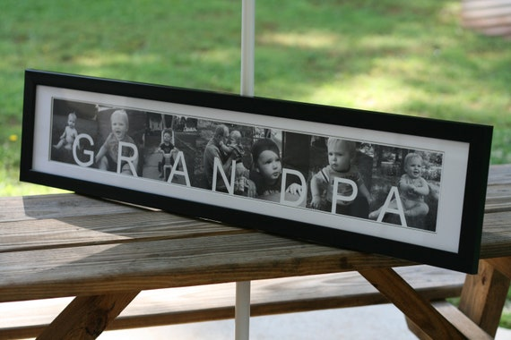 Framed Photo Collage for Grandpa or Grandma