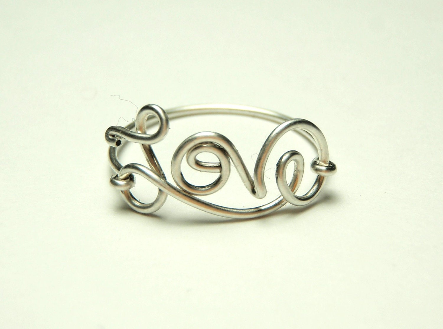 ring sterling silver wire rings script wire