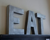Reserved listing Industrial Modern EAT Sign Letters Typography