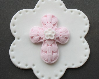 Fondant CROSS Cupcake Toppers