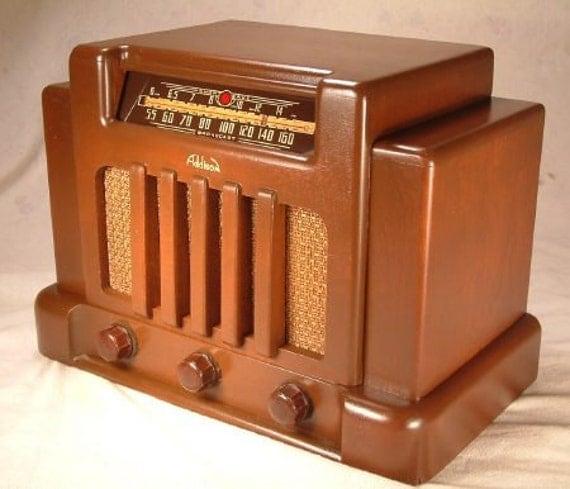 addison model 5 art deco radio 1940. Black Bedroom Furniture Sets. Home Design Ideas
