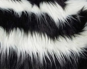 JailBird Black and White Faux Fur Craft Size