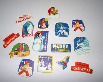 1930s CHRISTMAS Stickers ART DECO