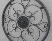 VINTAGE METAL WALL Grille with Open Work Design for Outdoor or Patio
