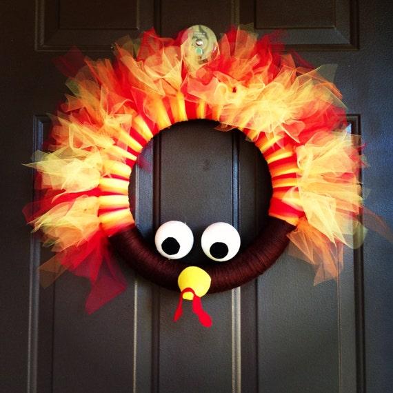 Items Similar To Tom The Turkey Wreath On Etsy