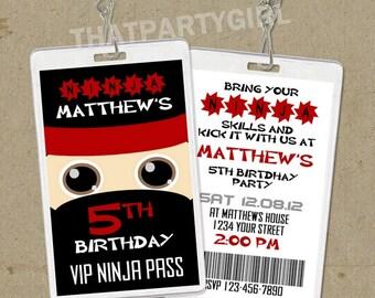 vip pass invitations  etsy, party invitations