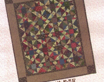 Faded Stars Quilt Pattern PDF Reproduction Traditional Style