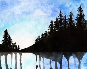 "Canadian Forest Watercolour Print 8"" x 11.5"" (A4) - Paint the Moment"