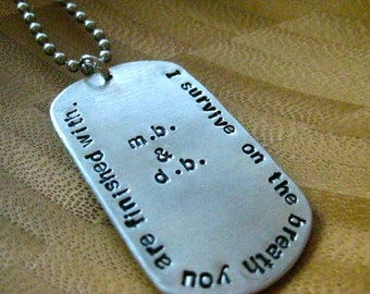 Army Style Dog Tag - Add Your Custom Names - By Rawkette