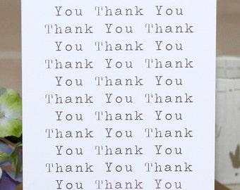 Thank You Card - 'Thank You'