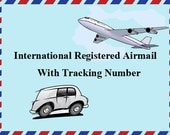 Registered Airmail with tracking number for your items