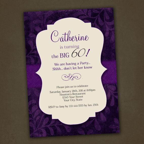 Items Similar To Adult Birthday Invitations, Printable