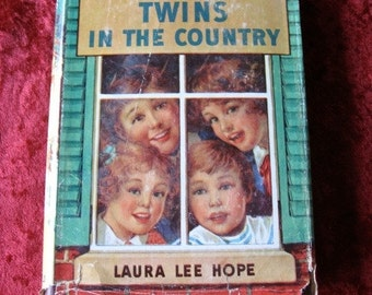 1940 BOBBSEY Twins Book with Orig Dustjacket In The Country laura Lee Hope
