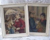parisian ladies prints painted wooden frames j c huldah hollywood regency french apartment shabby