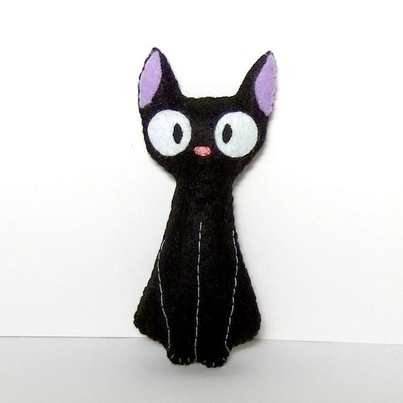 Jiji (from kiki's delivery service by studio ghibli) Black fat cat plushie