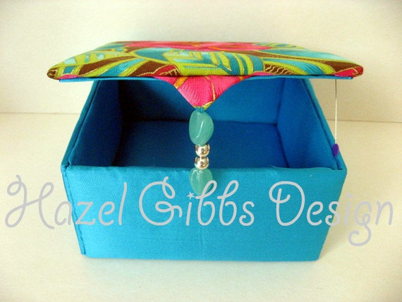 silk jewelry box - jewelry boxes - jewellery boxes - girls jewelry boxes - jewelry boxes for women - womens gift box - OOAK