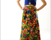 Floral Burst Bright and Bold Ruffled Wrap Skirt--XS/S