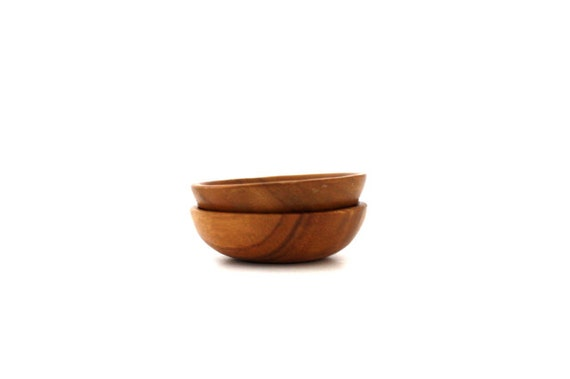 Vintage TINY Set of Wooden Bowls