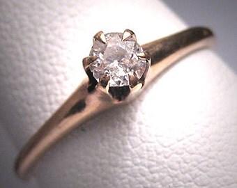 Antique Diamond Wedding Ring 19th Century Victorian Engagement