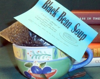 Black Bean Soup Mix, Gourmet Soup at home, dry mix, vegan, gluten free