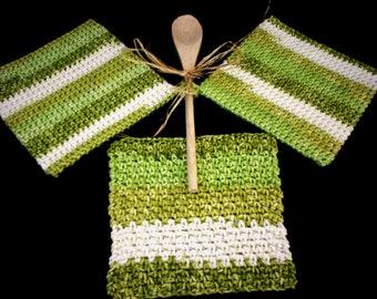 Crochet Potholders Double Thick Potholder Hot Pad Trivet Dishcloth