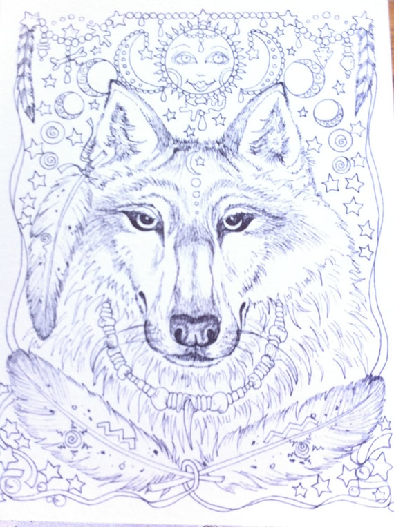 Coloring Pages Of Spirit Animals : Jhi spirit animals coloring pages best free