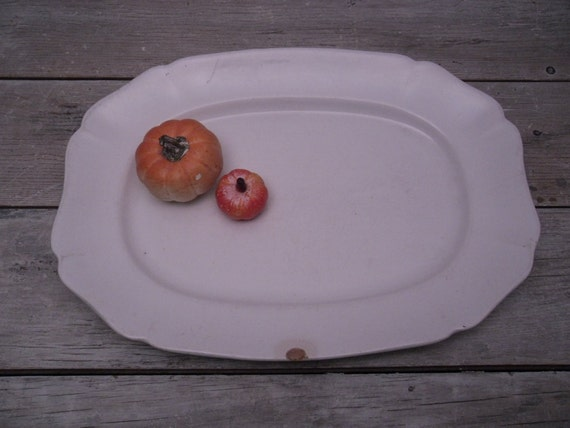 white ironstone platter / alfred meakin