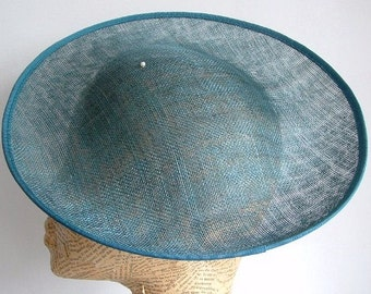 SALE - Sinamay 12 inch Saucer - Teal WAS 42.00 NOW 35.00