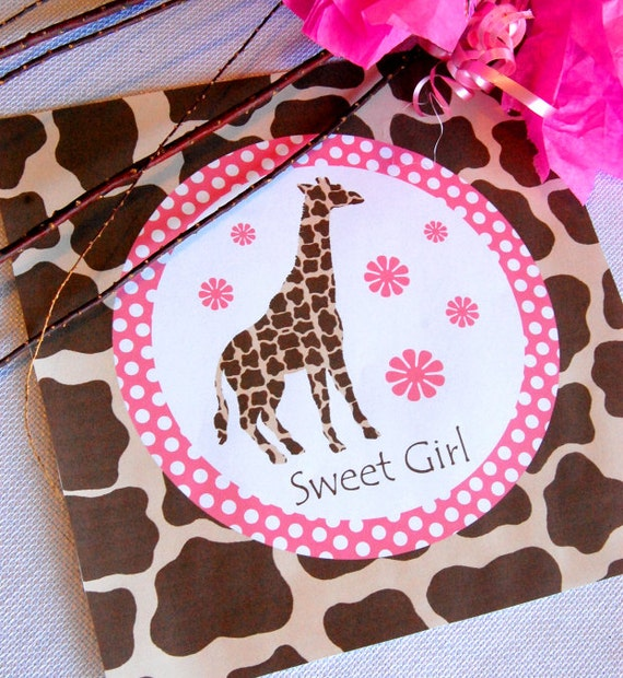 giraffe party decorations birthday party baby shower banner bottle