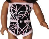 American Girl Clothes - Pink & Black Swirl Bathing Suit - Pink Platform Sandals
