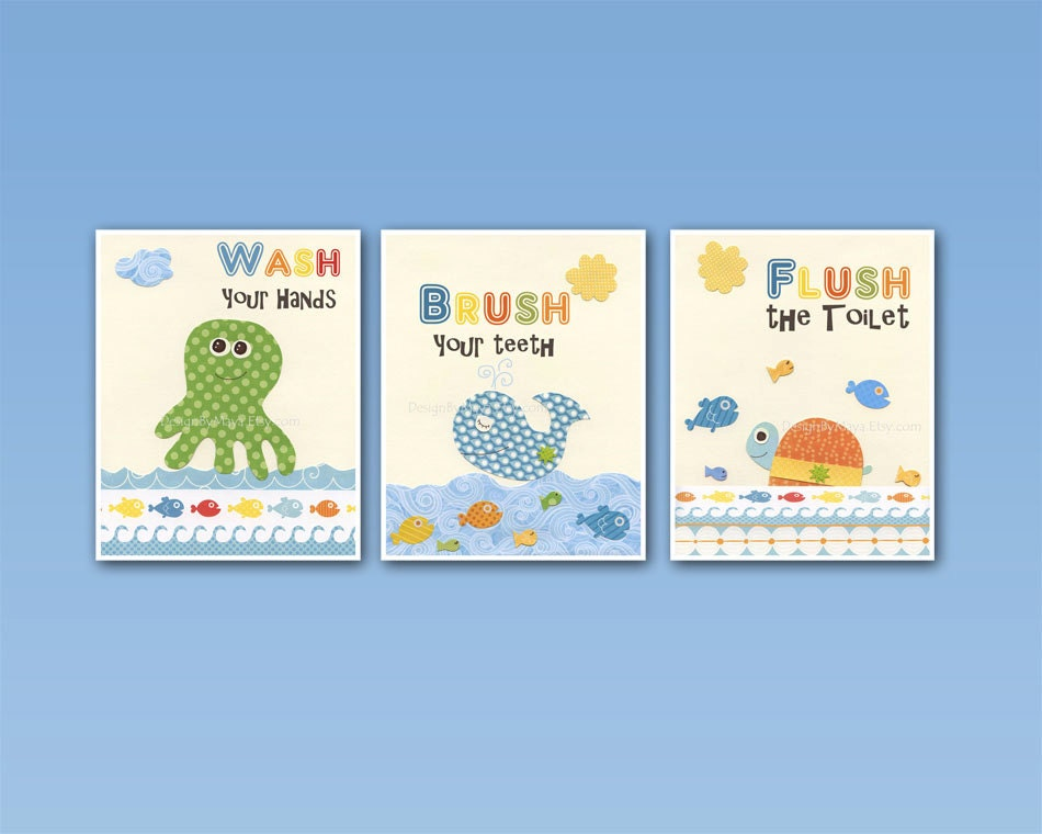 Wall Art For Kids Bathroom - Elitflat