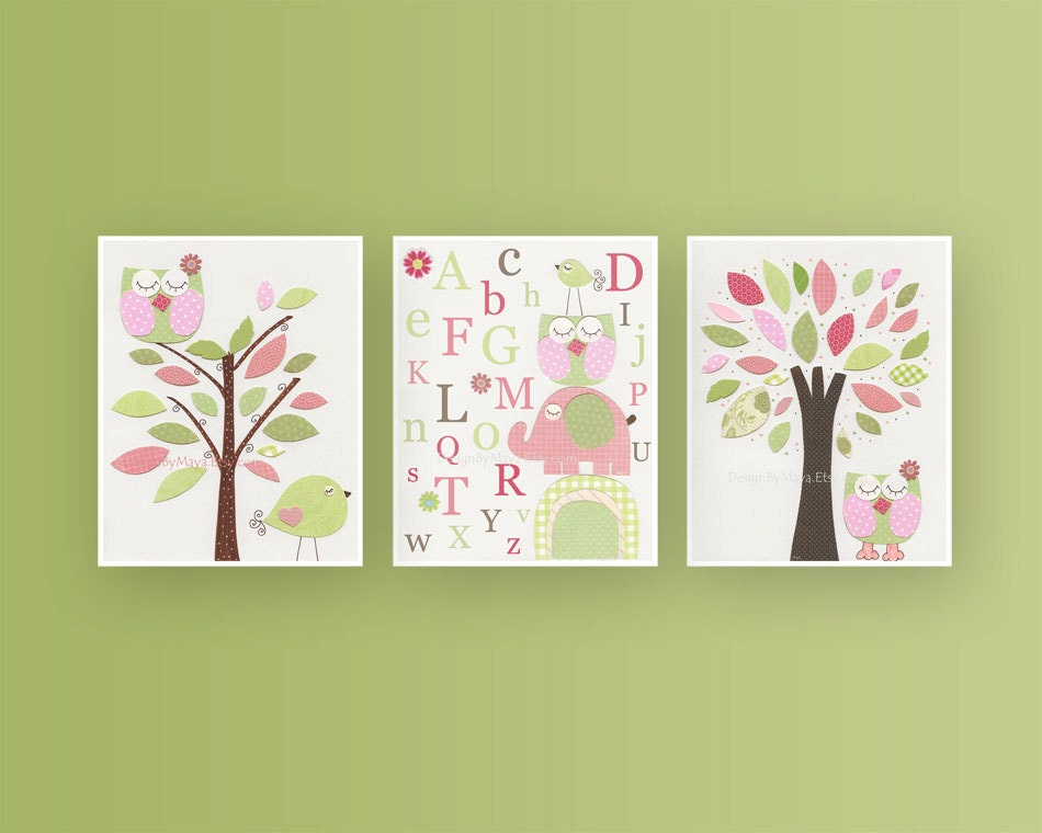 Nursery Decor Baby Girl Room Nursery Wall Art Print For Girls