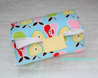 Clearance - Baby Changing Pad - Alexander Henry Pear Apple - Ready to Ship