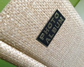 Retro Tan Thatched Photo Album with Gold Lettering