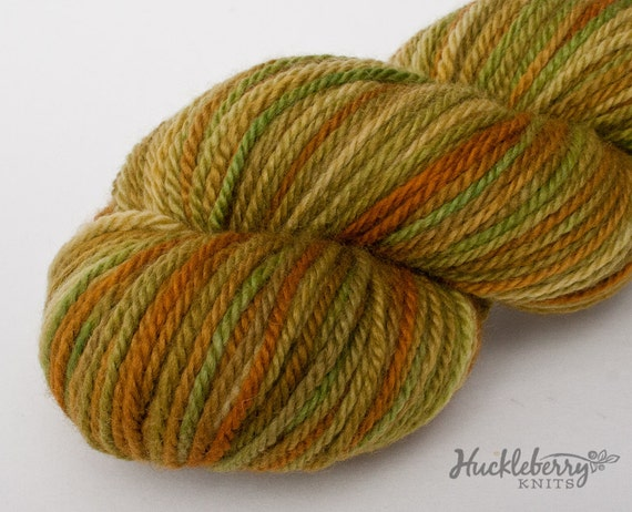 SALE - Hand dyed Blue-Faced Leicester aran yarn (Canadian BFL): Anjou, 4.4 oz