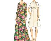 1970s Dress Vintage Pattern/ UNCUT and FF Simplicity 5850 /Misses Maxi Dress or Mini Dress Pattern/ Size 20