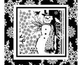 Snowman Frame Christmas Clear Stamps by Inkadinkado