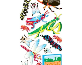 Bugs Metallic Dimensional Stickers by EK Success 14 pcs