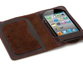 Prophetik up-cycled leather I-phone case and wallet