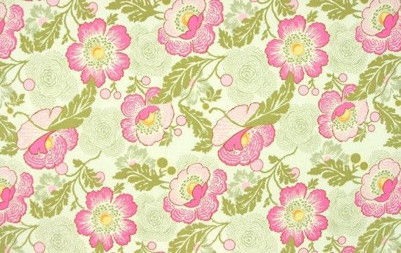 Amy Butler Fabric - Half Yard Fresh Poppies in Fuchsia
