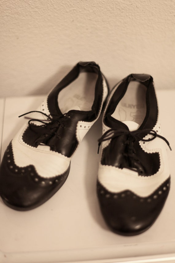 90's Black White Clear Mary Janes Oxfords 7-7.5