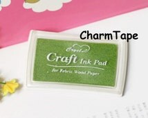 Stamp Ink Pad Oil Based waterproof for wood, fabric and paper - Thyme Green