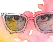I Spy - Watercolor & Illustration Print