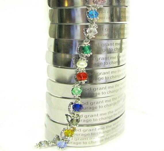 Serenity Prayer Bracelet / Inspirational Jewelry / Inspirational Bracelet / Recovery Jewelry / Sobriety Anniversary Gifts / Sobriety Gifts