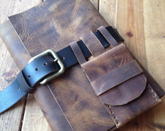 Ridge Journal / Leather Journal / Notebook / Leather Book / Diary / Large Leather Notebook / Large Leather Journal / Refillable / Dad Gift