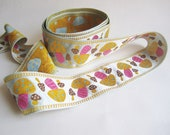 Toadstool Trim, Psychedelic 60's, Alice in Wonderland, Vintage Embroidered Trim