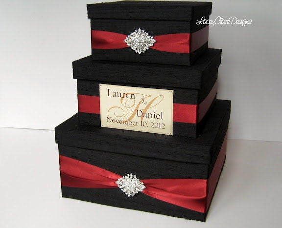 Wedding Gift Card Containers : Wedding Gift Box Card Box Money Holder Envelope Reception