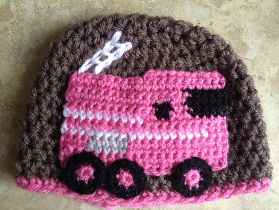 Crochet Pattern - Fire Truck Applique