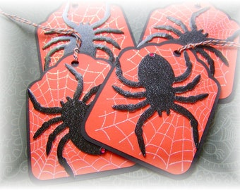 Halloween- Spider Web Tags - Oversized Double Layered (4)