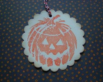 Jack O Lantern Pumpkin Halloween Tags (8)
